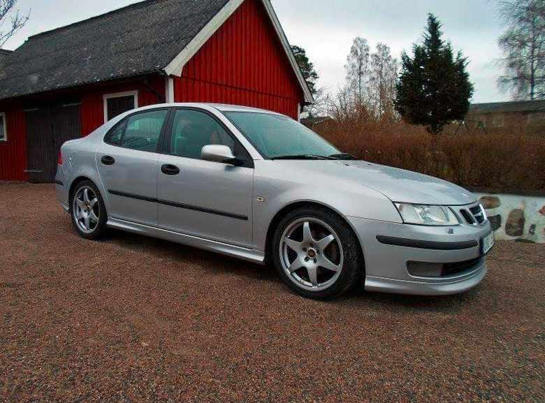 The initial state of the Saab 9-3 racing project