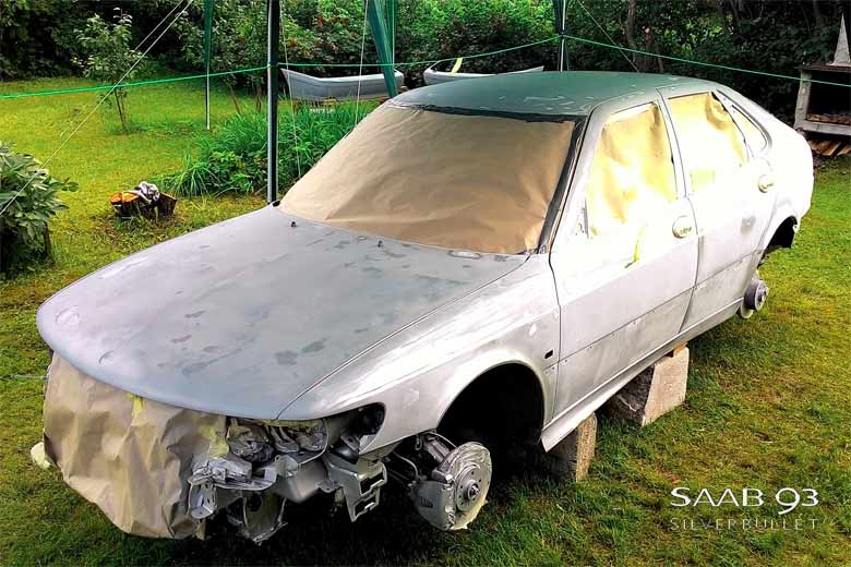 Saab 9-3 before Paint Shop