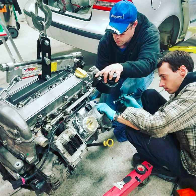 Saab 9-3 AER Racecar engine B207