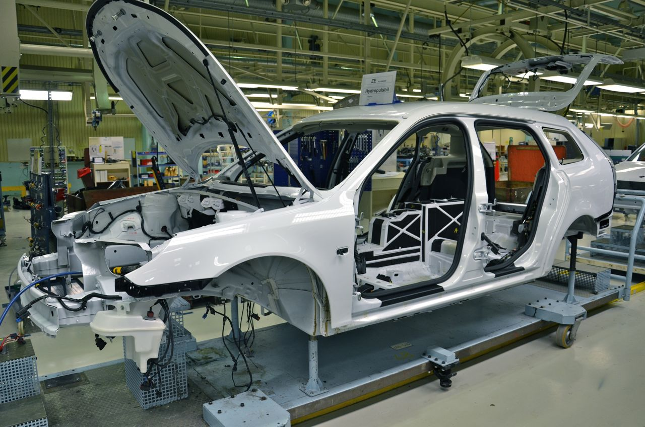 Saab 9-3 EV production