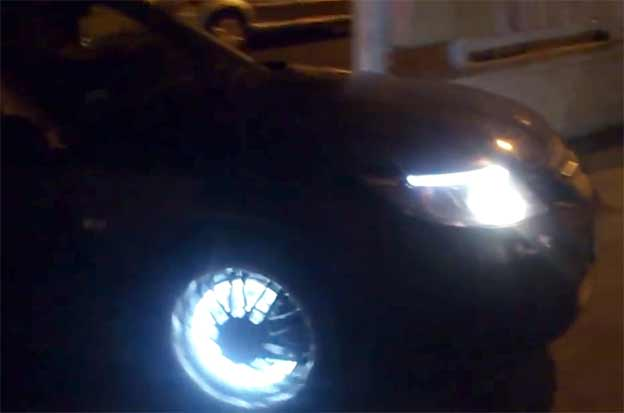Saab 9-3 with LED Rims