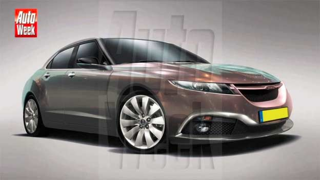 Saab 9-3 sketches from AutoWeek