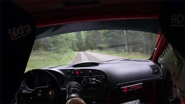 Saab 9-3 Rally Footage