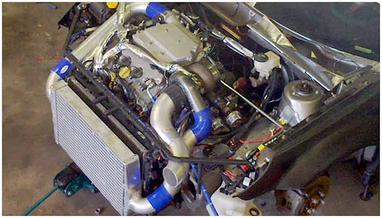 Saab 9-3 SSR Drag race engine