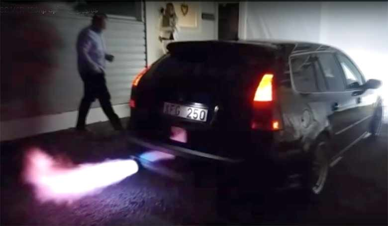 Saab 9-3SC 2.8T V6R Spitting Flames & HUGE Sounds