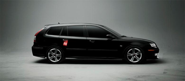 Saab 9-3 Sportcombi - Studio photography