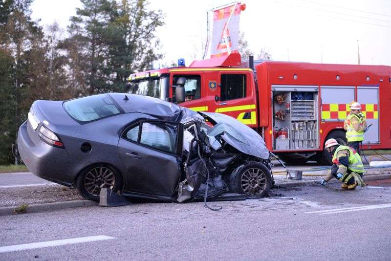 Saab 9-3 after accident