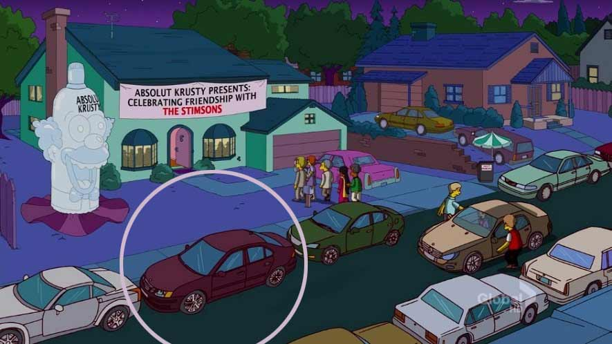 Saab 9-3 in The Simpson TV Show