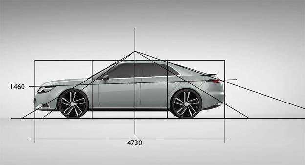Saab 9-3 proportions