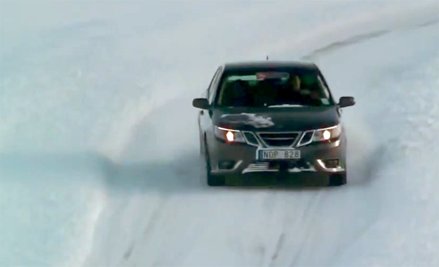 Saab 9-3 with e-AAM - electric AWD systems for next-gen vehicles