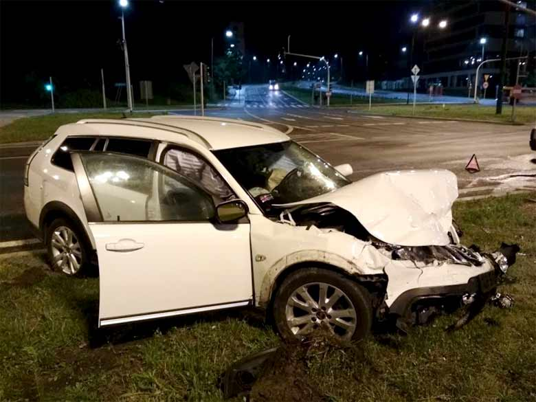 Saab 9-3x after accident