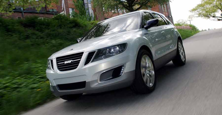 The Saab 9-4X is a mid-size luxury crossover SUV