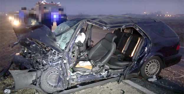 Saab 9-5 after scary crash