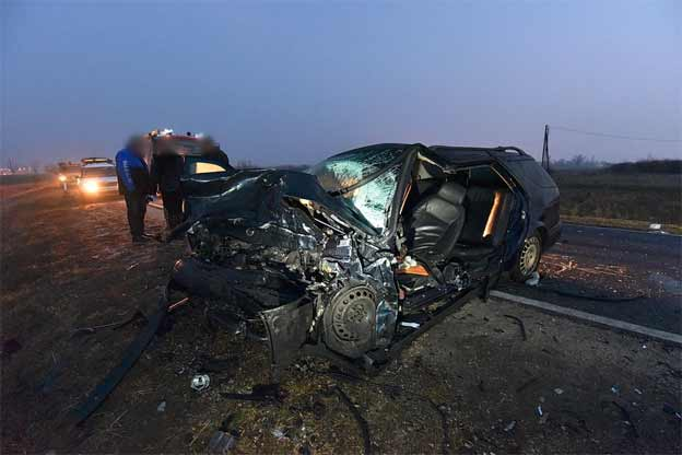 Saab 9-5 collided with Audi A6
