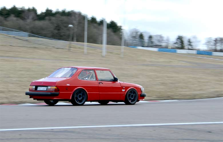 Saab 90 at Racetrack