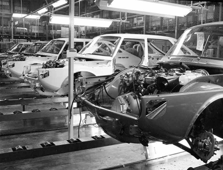 Saab 90 production at Valmet automotive