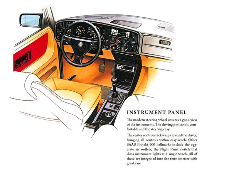 Saab 900 - instrument panel