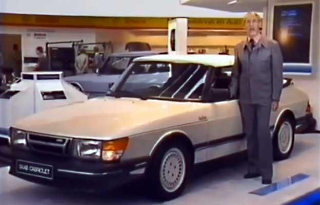 Saab 900 Convertible at the Frankfurt Motor Show 1983