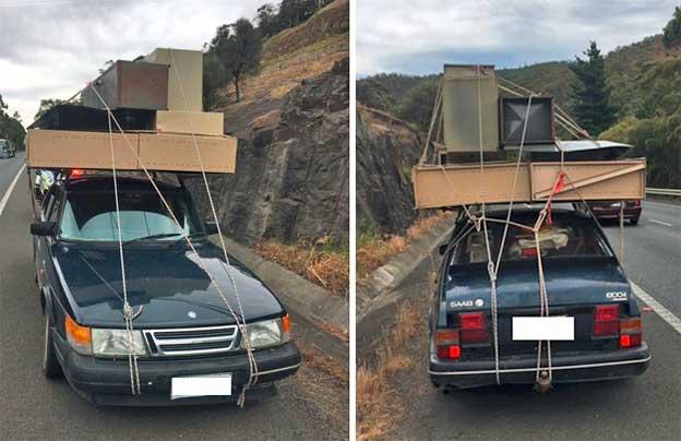Saab 900 Overloaded