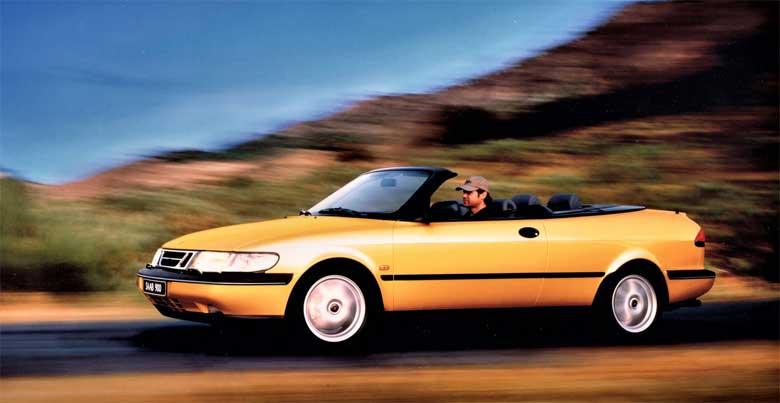 1997 Saab 900 SE Convertible Monte Carlo Yellow