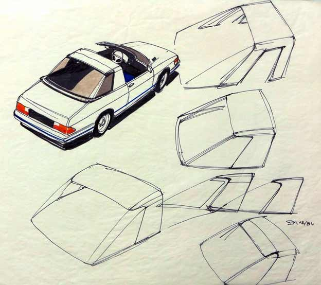 Saab 900 Targa sketches