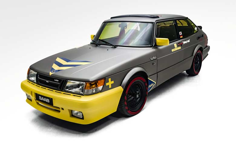 Vinyl Project: Saab 900 Turbo SPG jet-inspired makeover