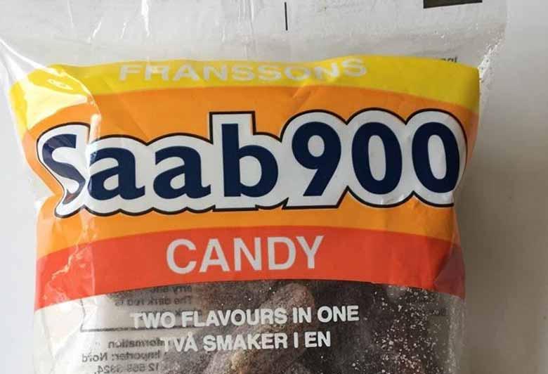 Saab 900 candy