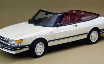 """The ASC """"flat nose"""" prototype of Saab 900 convertible"""