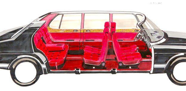 Saab 900 extended version