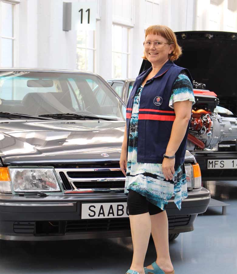 Pia Åkesson and Saab 9000
