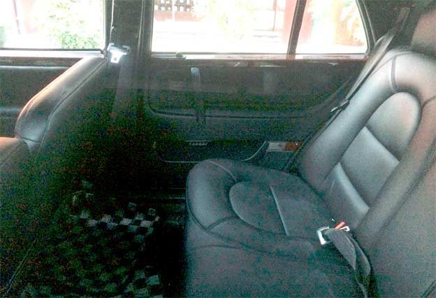 Saab 9000 LImo interior with three rows of seats