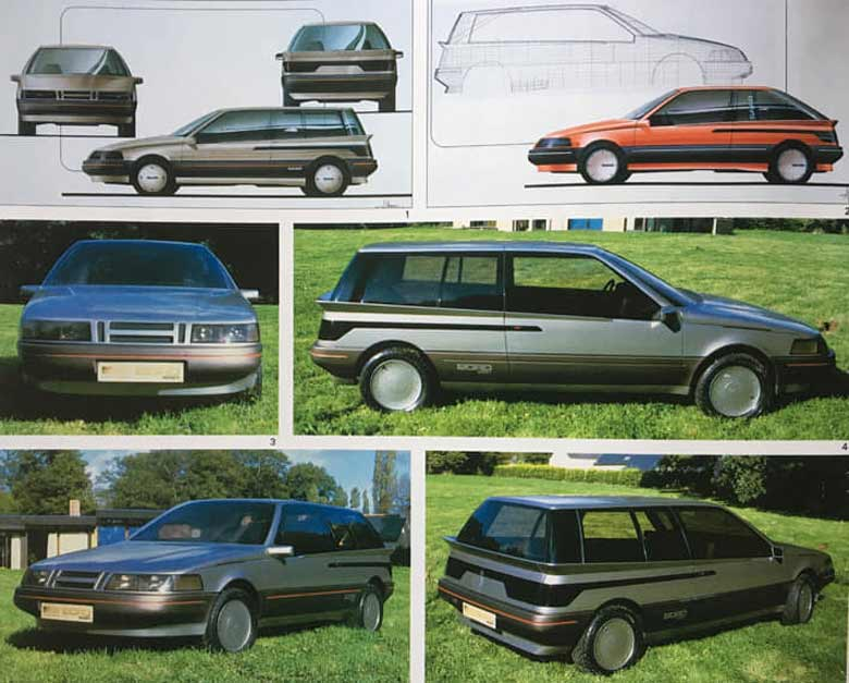 "The ""Saab Fjord"" Concept based on the Saab 9000"