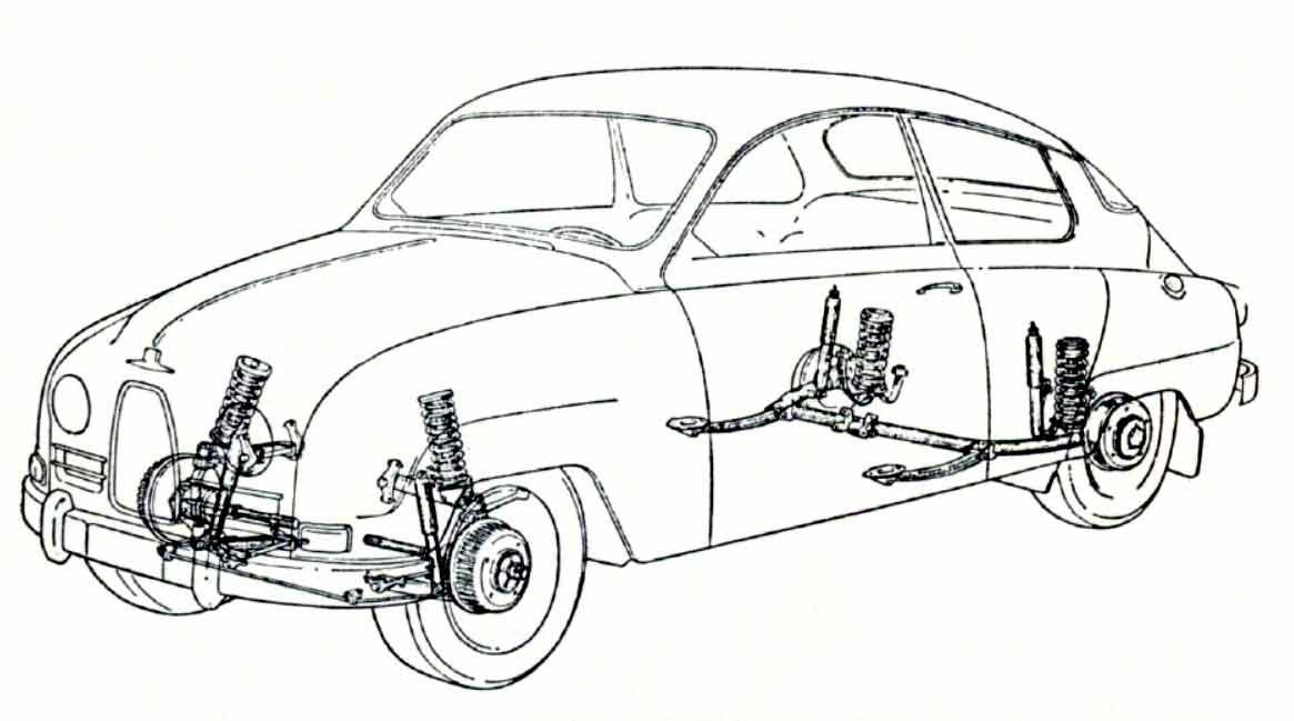 Saab 92 -Axles and Suspensions