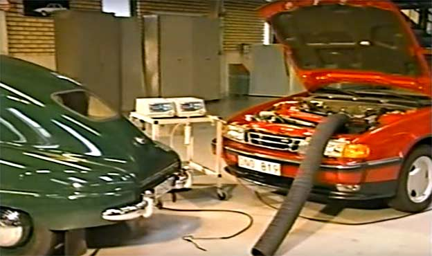 Saab 92 and Saab 9000 emissions somparation