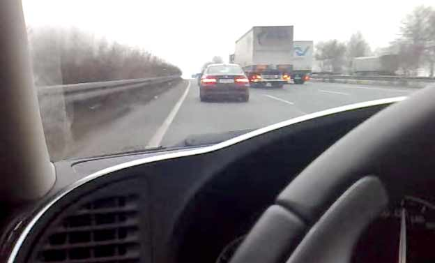 Saab 9-3 Aero V6 on Highway