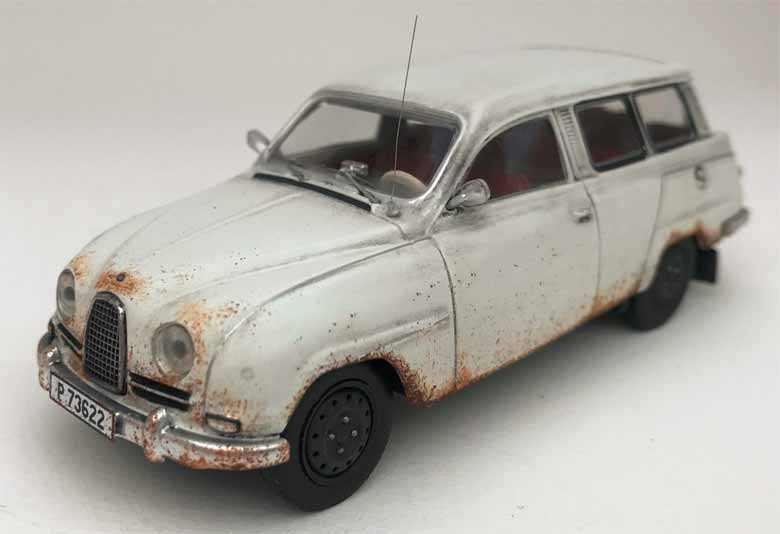 Saab 95 Scale model - Exceptional level of detail both on the exterior of the car and the interior