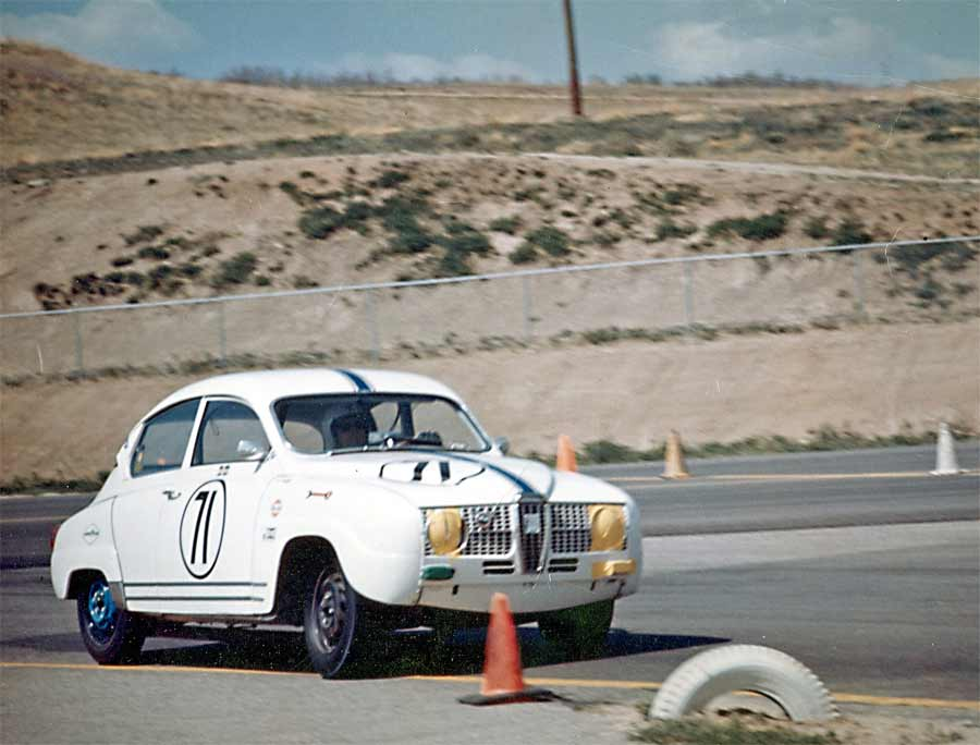 66 Saab 96 Monte Carlo at the very first Trans AM race