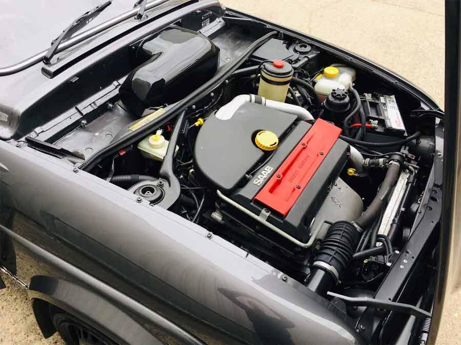 Saab 96 modern engine bay