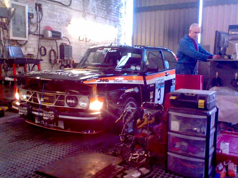 Julian and his project car - Saab 99 EMS Turbo
