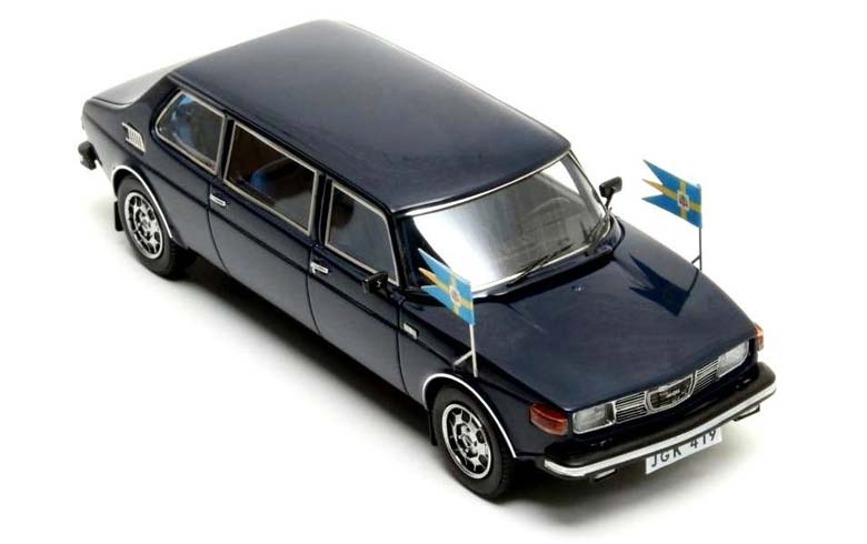 Saab 99 Limousine 1976 from King Carl XVI Gustav of Sweden.