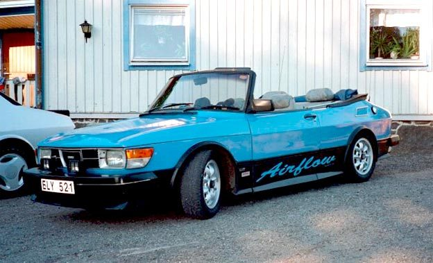 another one of his crazy projects - Saab 99 Cabrio