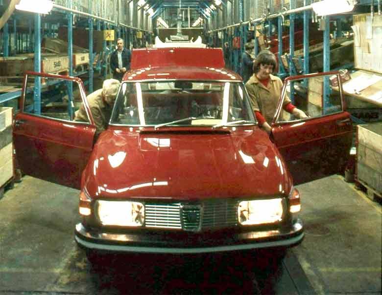 Saab 99 on production line