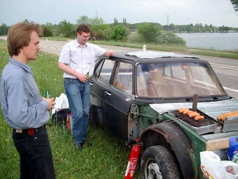 Saab 900 Barbeque