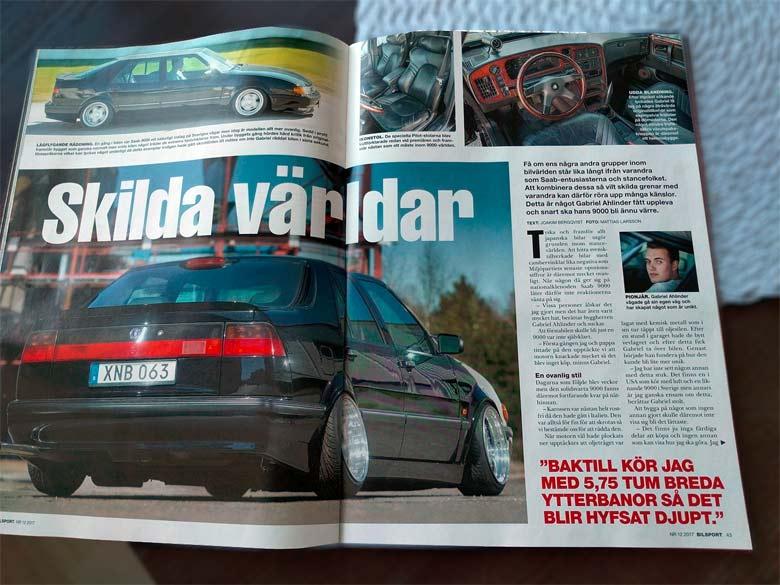 Saab 9000 Stance in Bilsport