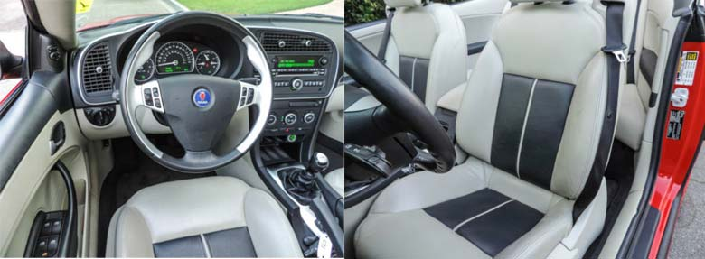 Saab Convertible for Sale interior