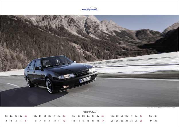 Saab Calendar 2017 by Heuschmid
