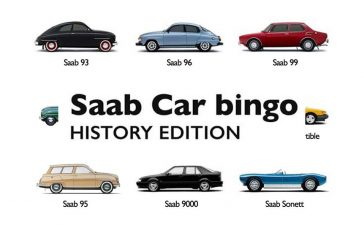 Saab Car Bingo Game