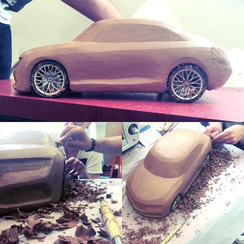 Saab Clay model