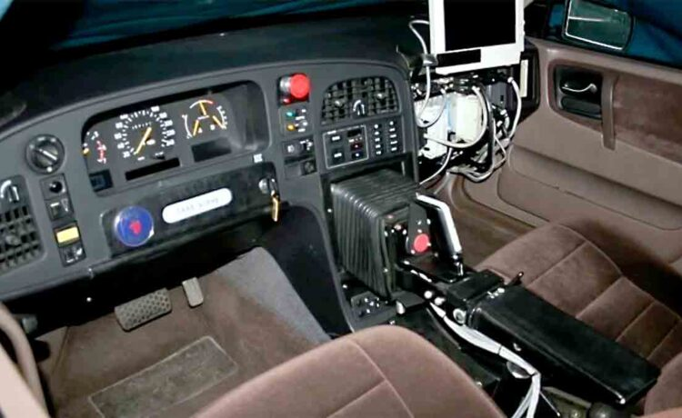 the Saab 9000 Prometheus, a prototype made by Saab in the early 1990's that featured a joystick instead of steering wheel!