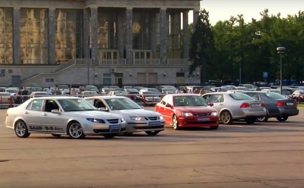 """Saab dance"" by Russian Saab Performance Team"